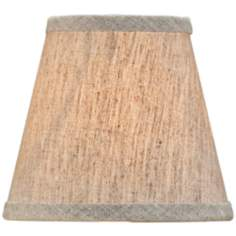 Small Natural Linen Empire Lamp Shade 3x5x4.5 (Clip-On)