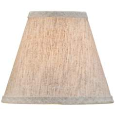 Medium Natural Linen Empire Lamp Shade 3x6x5 (Clip-On)