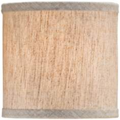 Natural Linen Drum Lamp Shade 5x5x5 (Clip-On)