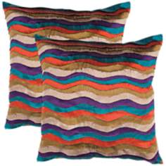"Textural Multi 18"" Square Throw Pillow"