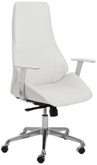 Bergen White Faux Leather High Back Office Chair (2P748) 2P748
