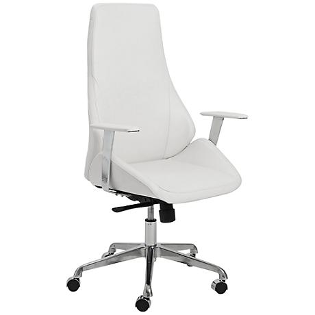 Bergen White Faux Leather High Back Office Chair