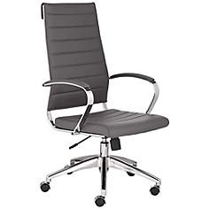 Medina High Back Gray Faux Leather Office Chair