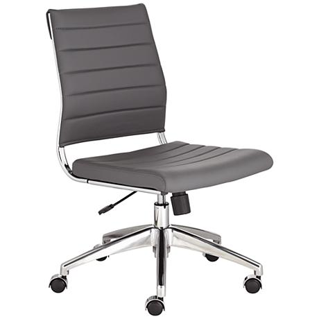 medina low back armless gray office chair