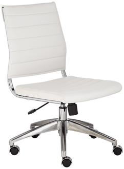 Medina Low Back Armless White Office Chair (2P756) 2P756