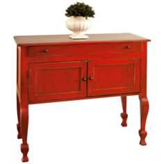Rochelle Red Console Table