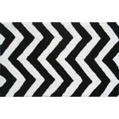 Chevron Black and White Indoor Only Doormat