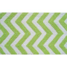 Chevron Green Indoor Only Doormat