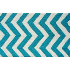 Chevron Turquoise Indoor Only Doormat