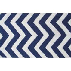Chevron Navy Indoor Only Doormat