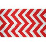 Chevron Red Orange Indoor Outdoor Doormat