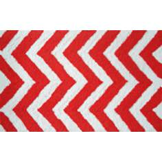 Chevron Orange Indoor Only Doormat