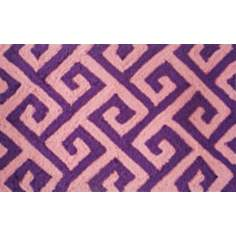 Greek Key Plum Indoor Only Doormat