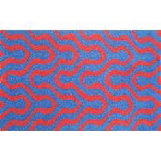 Jagged Blue Indoor Only Doormat