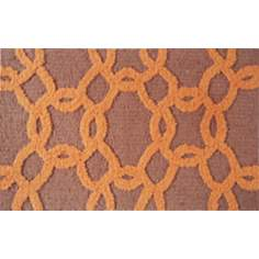 Links Orange Indoor Only Doormat