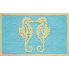 Coastal Seahorses Indoor Only Doormat