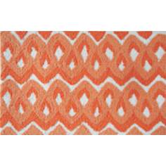 Squiggles Orange Indoor Only Doormat