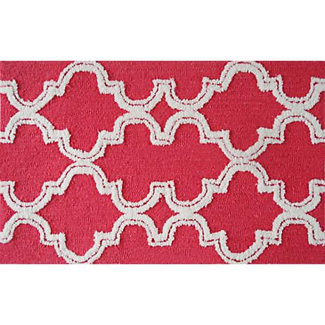 Jafar Raspberry Indoor/Outdoor Doormat