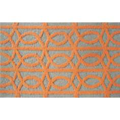 Symmetric Orange Indoor Only Doormat