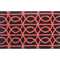 Symmetric Red Indoor Only Doormat