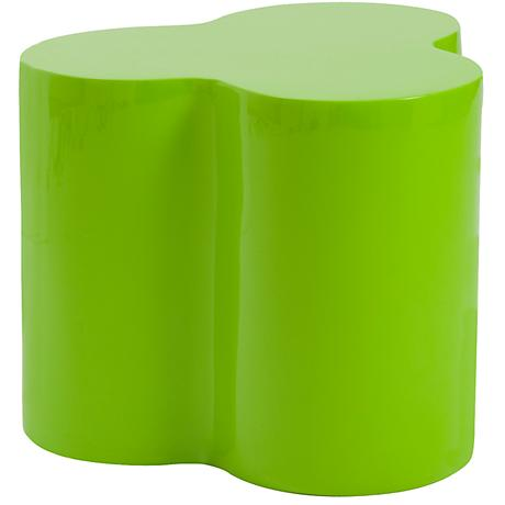Sloan High-Gloss Green Small Table or Stool