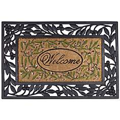 Welcome Coir and Rubber Doormat
