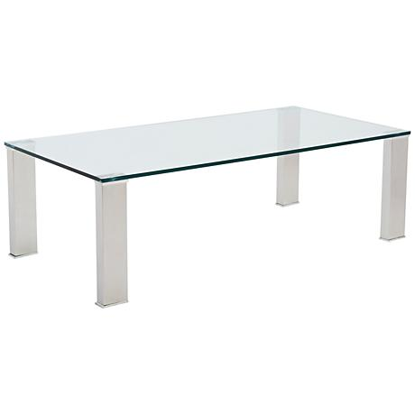 Beth Stainless and Clear Glass Coffee Table