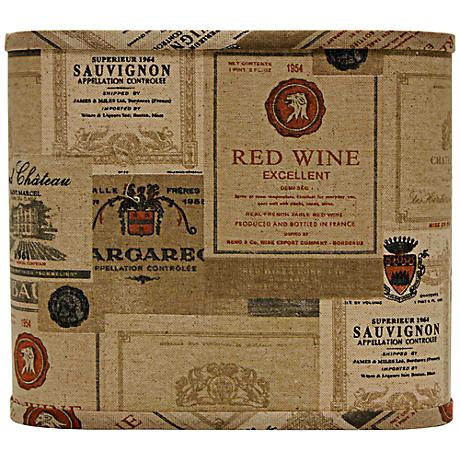 Wine Labels Square Lamp Shade 11x11x9.5 (Spider)