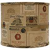 Wine Labels Drum Lamp Shade 14x14x11 (Spider)