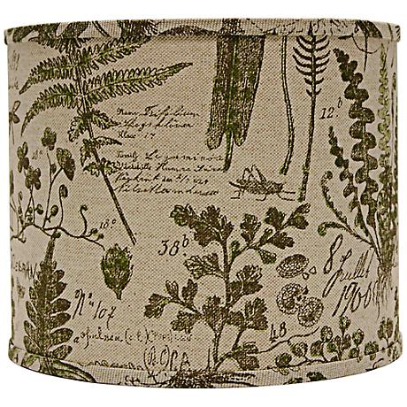 Cedar Moss Woodlands Drum Lamp Shade 16x16x13 (Spider)