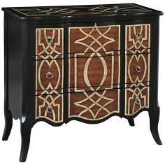 Edith Hand-Painted Fret Accent Chest