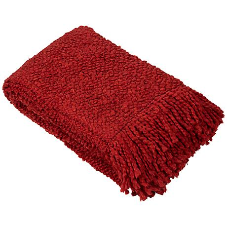 Camelot Collection Red Decorative Throw