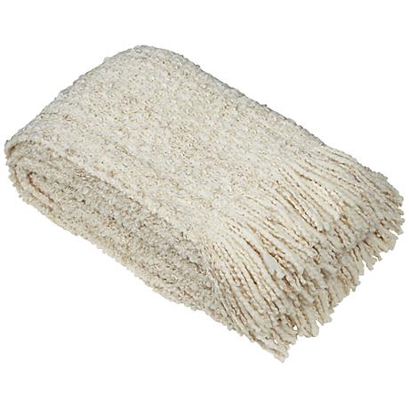 Canyon Collection Eggshell Decorative Throw