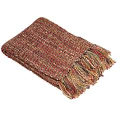 Hanover Collection Red Decorative Throw