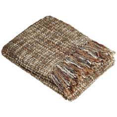 Hanover Collection Brown Decorative Throw