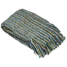 Stria Collection Seaglass Decorative Throw
