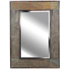 "Kenroy Home White River Slate 38"" High Wall Mirror"