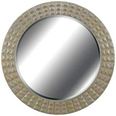 "Kenroy Home Bezel Gold And Silver 32"" Round Wall Mirror"