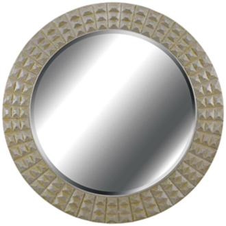 "Kenroy Home Bezel Gold And Silver 32"" Round Wall Mirror (2R366)"