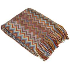 Marrakesh Collection Terracotta Decorative Throw