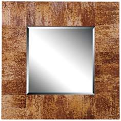 "Kenroy Home Caribe Banana Leaf 34"" Square Wall Mirror"