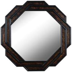 "Kenroy Home Interchange Bronze 34"" Round Wall Mirror"