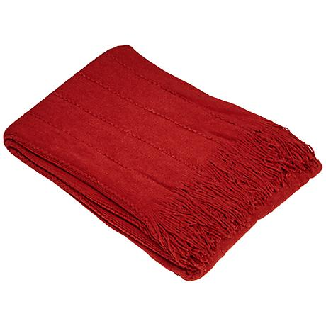 Rio Collection Dark Cherry Decorative Throw