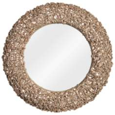 "Kenroy Home Seagrass 28"" Round Rope Wall Mirror"
