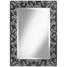 "Durban Black Mosaic 23 1/2"" x 32 1/4"" Wall Mirror"