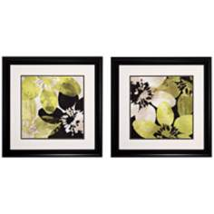 "Set of 2 Blommer Tiles V/VI 26"" Square Wall Art Prints"