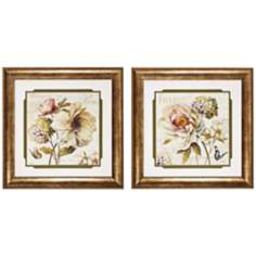 "Set of 2 Marche Fleur II/III 29"" Square Wall Art Prints"
