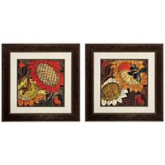 "Set of 2 Sunflower 14/37 30"" Square Wall Art Prints"
