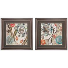 "Set of 2 Royal Tapestry I/II 30"" Square Framed Wall Art"