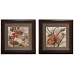 "Set of 2 Botanicals I/II 30"" Square Wall Art Prints"
